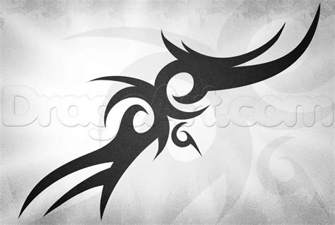 draw tattoo how to draw a cool tribal step by step tribal