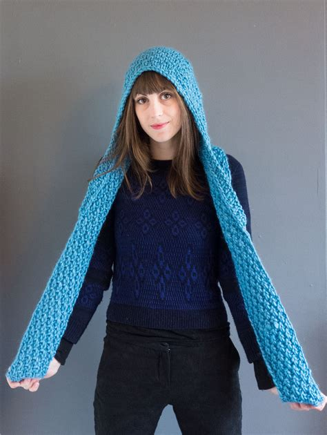 knit hooded scarf vera hooded scarf