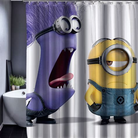 shop for shower curtains aliexpress com buy 2016 minions shower curtain