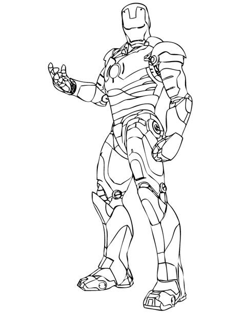 iron man coloring page az coloring pages