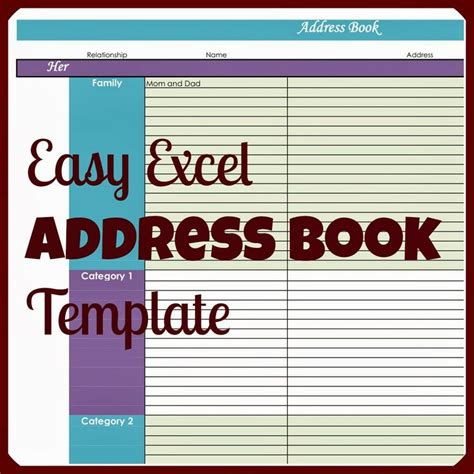 electronic address book template why would you need an address book in excel when