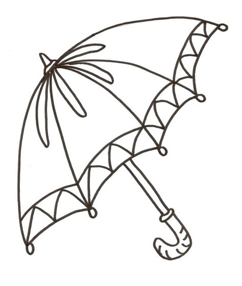 coloring page of umbrella free coloring pages of clip art of umbrella