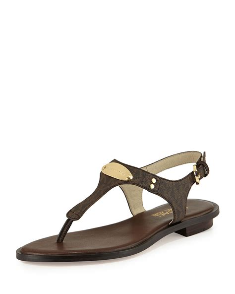michael kors sandals for michael michael kors plate sandal in brown lyst