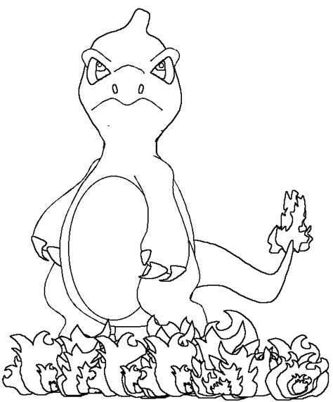 Pin Charmander Coloring Pages On Pinterest Coloring Pages Charmander