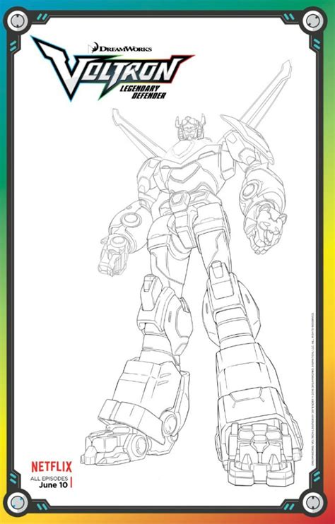 free voltron legendary defender coloring page mama likes