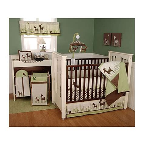 deer crib bedding kidsline willow organic deer 6 piece crib set woodland