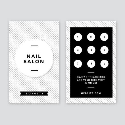 salon punch card template salon loyalty business cards wcm