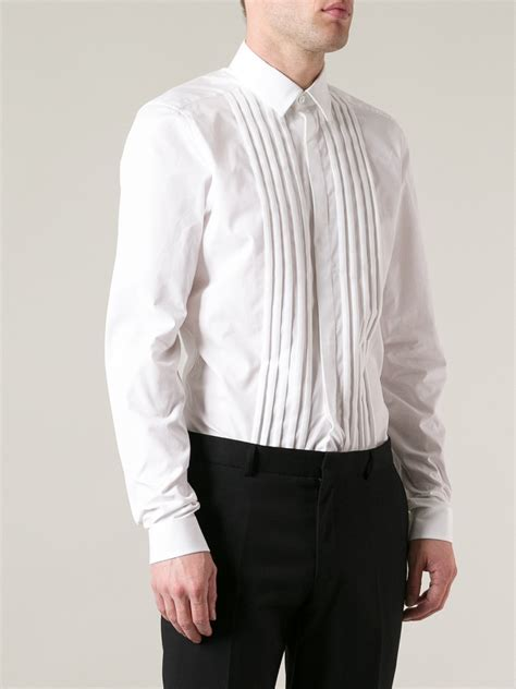 Pleated Shirt lyst valentino pleated shirt in white for