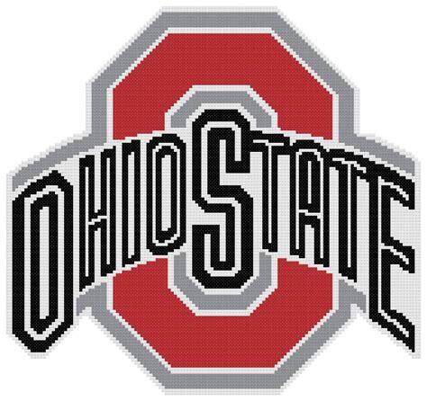 patterned u logo counted cross stitch pattern ohio state buckeyes logo