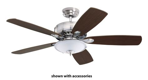 What Do Ceiling Fans Do by Emerson Cf901bs Brushed Steel Prima 52 Quot 5 Blade Ceiling Fan Blades Included Lightingdirect