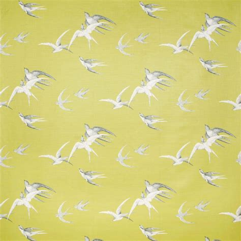 Sanderson Upholstery Fabrics by Swallows Fabric Lime Dvipsw201 Sanderson Vintage