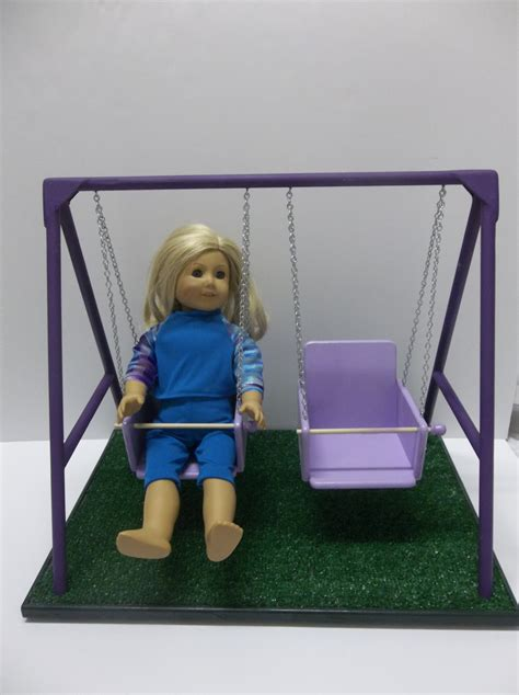 girls swing set american girl doll swing set purple