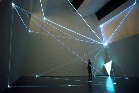 fiber optics art installations by carlo bernardini
