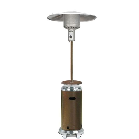 Shop Garden Treasures 41 000 Btu Stainless Steel Hammered Stainless Steel Propane Patio Heater