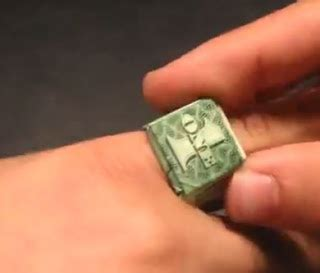 How To Make A Origami Dollar Ring - make a ring from a dollar bill the beading gem s journal