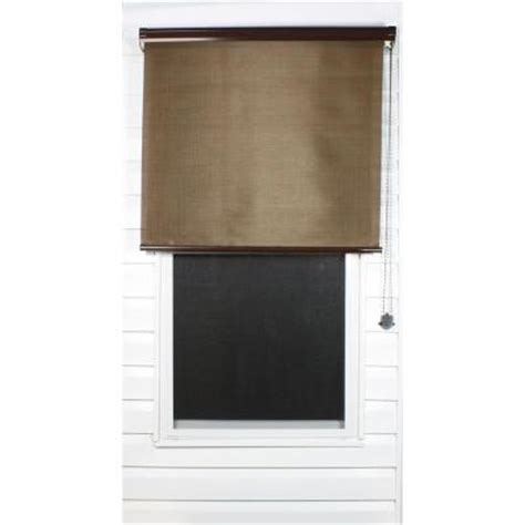 Outdoor Shades Home Depot by Coolaroo Java Exterior Roller Shade 92 Uv Block Price
