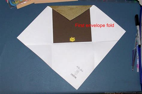 How To Make An Envelope From A Sheet Of Paper - how to make a themed sand castle card with matching