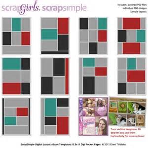 scrapsimple digital layout album templates 8 5x11 digi