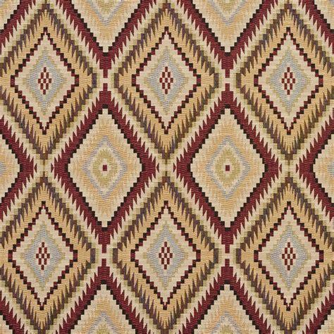 New Upholstery Fabrics E728 Gold And Light Green Woven Southwestern