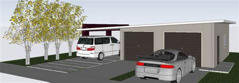 Sip Panels House double car garage w carport innova eco system