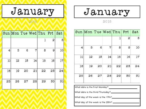 Calendar Questions 2015 Calendar Colourful Chevron Plain With Questions And