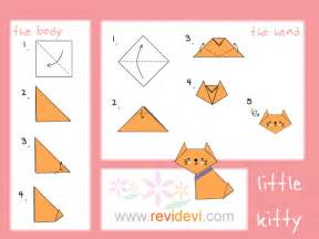 How To Make An Origami Cat - how to make origami cat revidevi
