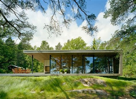 Modern Lake House In Sweden Island House Stockholm Sweden 1