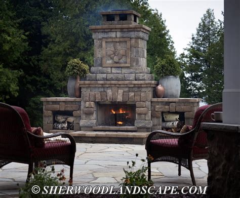 Outdoor Patio With Fireplace by Outdoor Fireplace Gallery Oakland County Outdoor Fireplaces