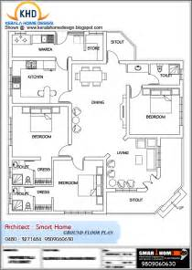 Floor Plan Of House by Single Floor House Plan And Elevation 1680 Sq Ft Home