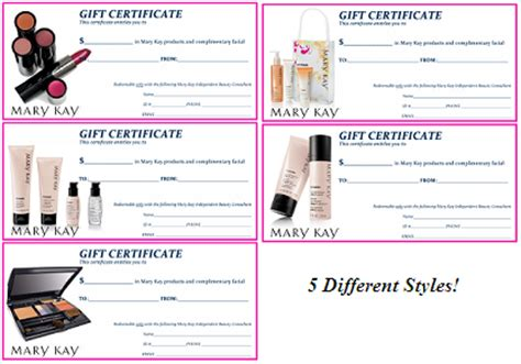 printable gift certificate mary kay mary kay gift certificate template lamoureph blog