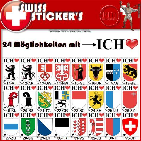Sticker Bestellen Schweiz by Schaffhausen Ich Liebe Fahne Kanton Die Selbstklebende