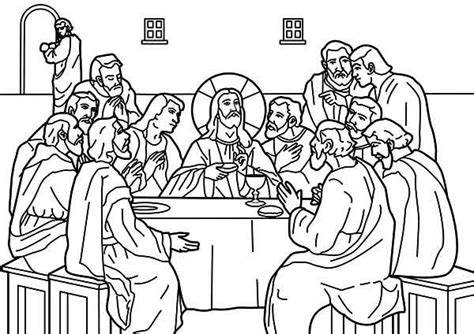 coloring page for the last supper last supper coloring pages vitlt com