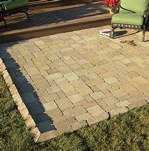 installing a paver patio at the home depot