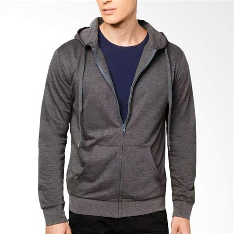Jaket Sweater Hoodie Sleting Polos Tosca jual vm hoodie sleting grey jaket polos pria