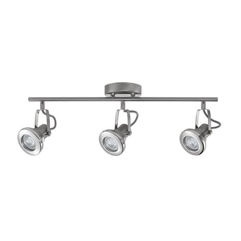 stainless steel track lighting globe electric theodore collection led 3 light brushed