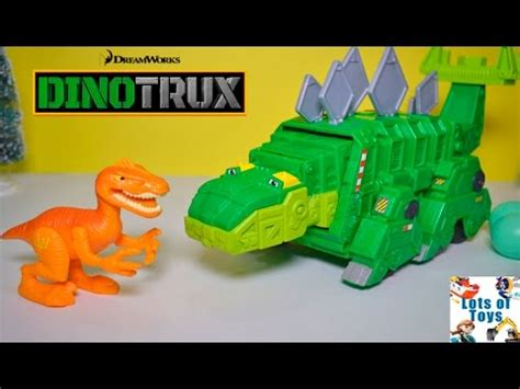 Transformer Dino Robot Dinosaurus Road Wheel M1 dinotrux garby garbage truck gasses up and shoots rocks defeats dino and wars trooper