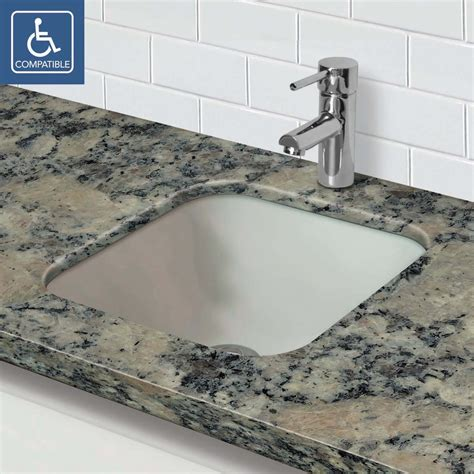 glass undermount bathroom sinks decolav 1139u square 12mm glass undermount bathroom