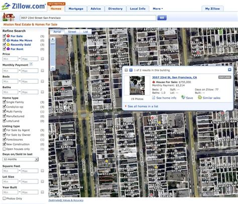 zillow can give you a view of houses for sale