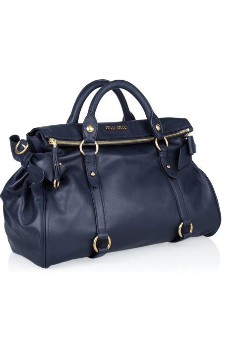 Miu Miu Bow Tote by Miu Miu Bow Leather Tote All Handbag Fashion