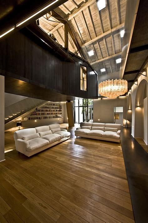 Stylish Ceilings by Stable Building Transformed Into Stylish Apartment In