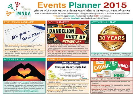 make a calendar of events 30th anniversary events calendar imnda