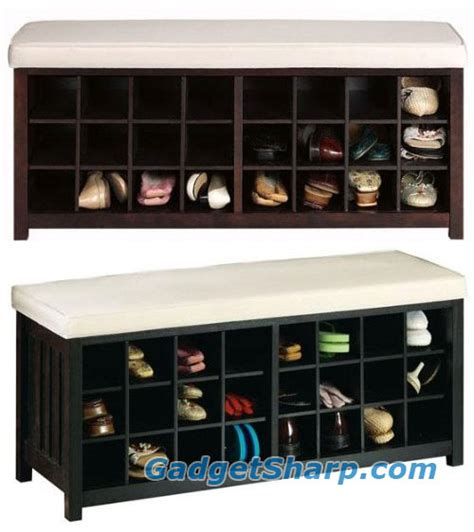 mission style bench with shoe storage 15 shoe storage ideas for your home gadget sharp
