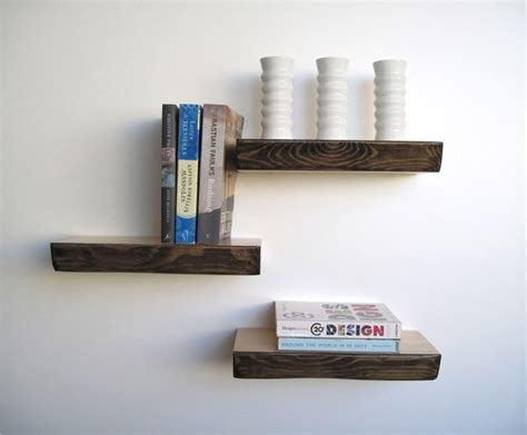 bark floating shelf modern display and wall shelves