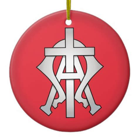 christian symbol christmas tree ornament zazzle