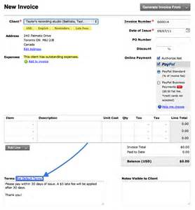 how do i set up late fees on invoices freshbooks