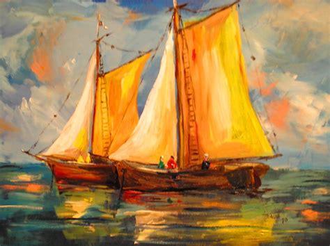 imagenes abstractas para pintar al oleo im 225 genes arte pinturas barcos pintados al 211 leo