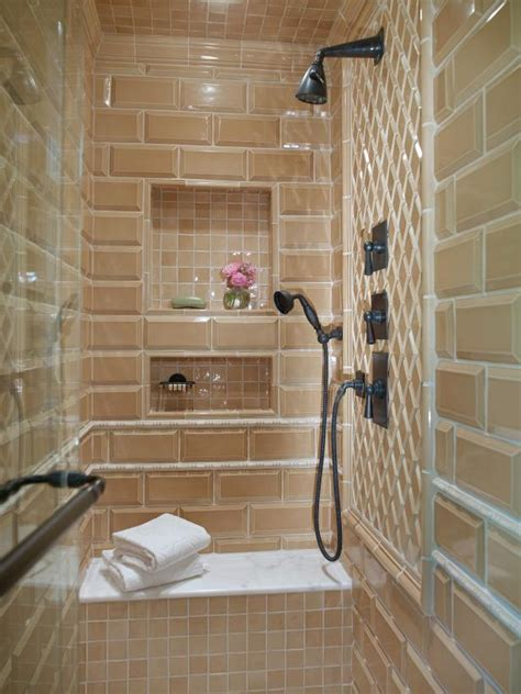 shower built in bench photo page hgtv