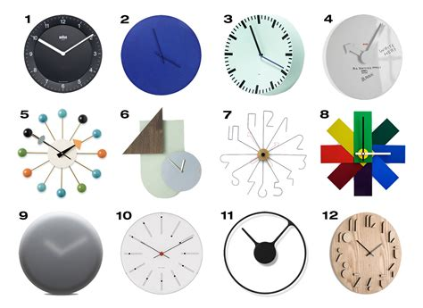 design milk clock 12 modern wall clocks design milk