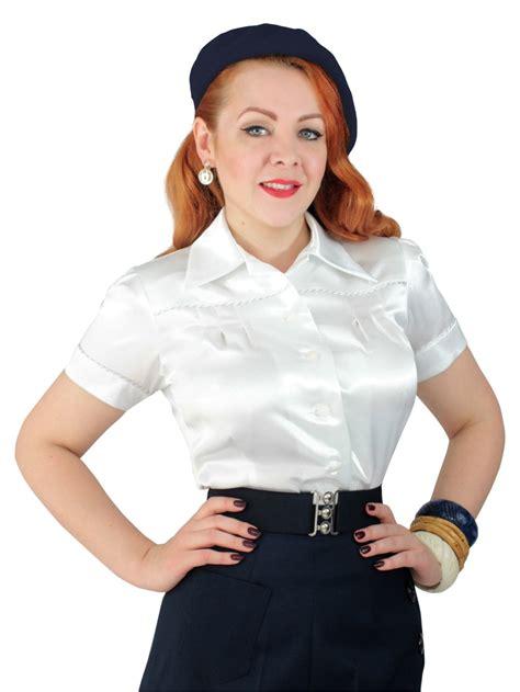 jojo blouse crepe satin white from vivien of holloway