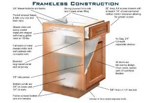 Kitchen Cabinets Construction by Frameless Cabinet Construction Impending Kitchen
